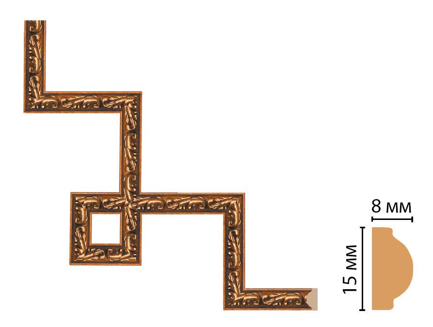 Декоративный угловой элемент DECOMASTER 130-3-1223 (200*200мм)