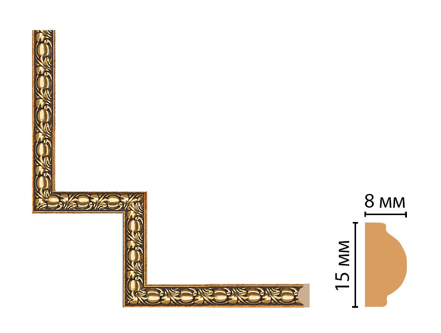 Декоративный угловой элемент DECOMASTER 130C-1-57 (200*200мм)