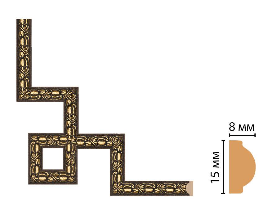 Декоративный угловой элемент DECOMASTER 130C-3-56 (200*200мм)
