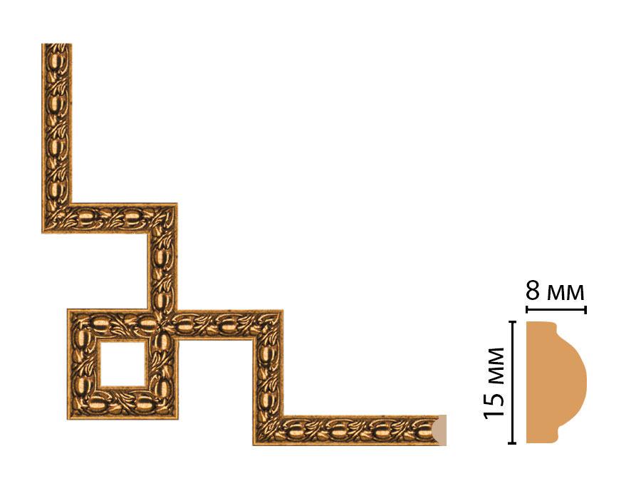 Декоративный угловой элемент DECOMASTER 130C-3-58 (200*200мм)