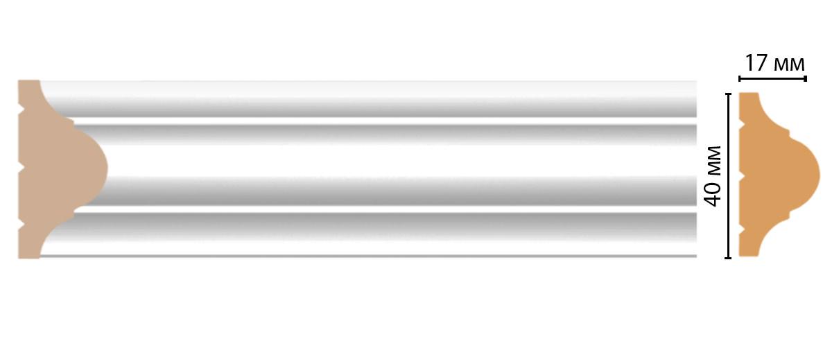 Молдинг DECOMASTER D002-114 (40*17*2400мм)