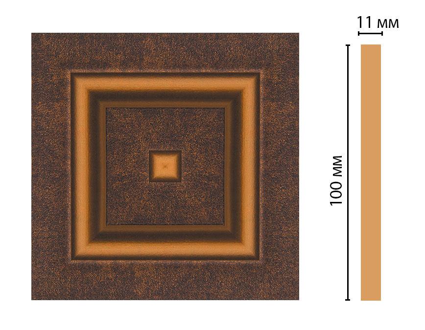 Вставка цветная DECOMASTER D205-56 (100*100*11мм)