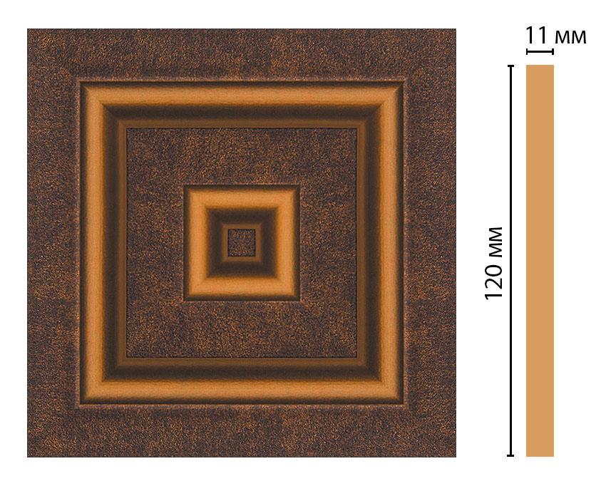 Вставка цветная DECOMASTER D206-56 (120*120*11мм)