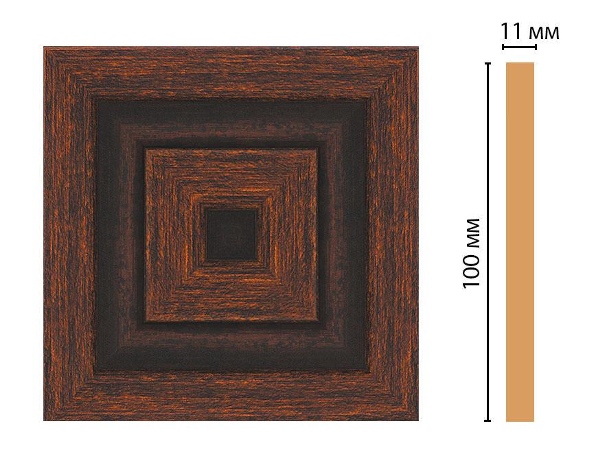 Вставка цветная DECOMASTER D205-966 (100*100*11мм)