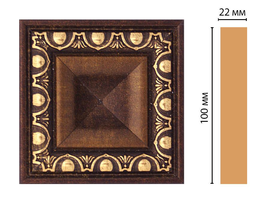 Вставка цветная DECOMASTER D207-56 (100*100*22мм)