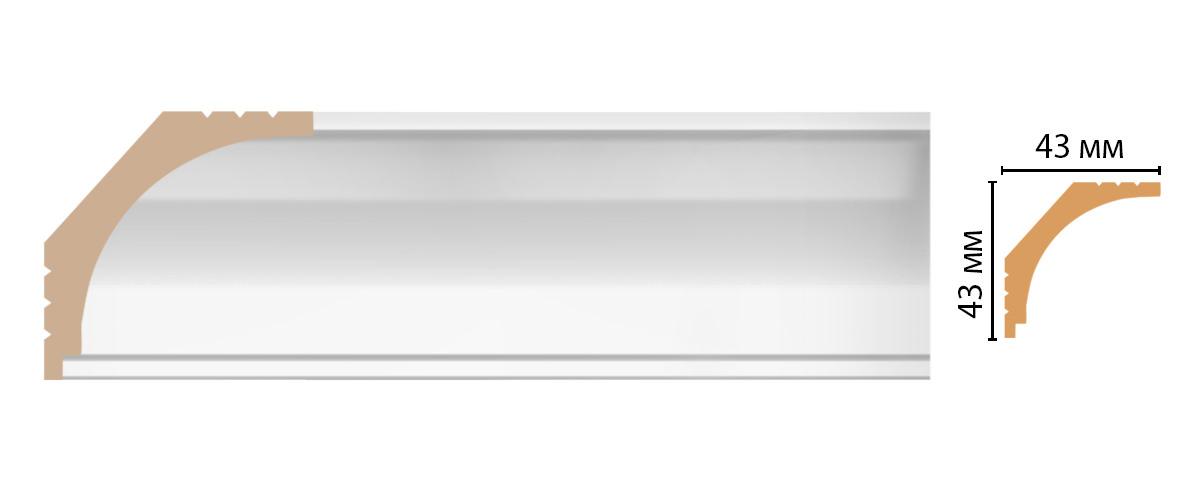 Плинтус потолочный DECOMASTER D109-114ДМ (43*43*2400мм)