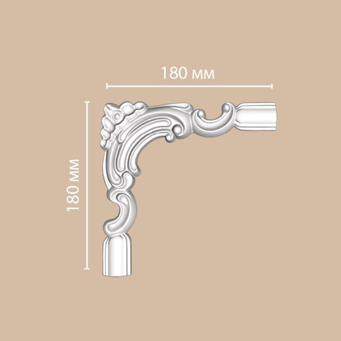 Угол DECOMASTER DP-8032C (180*180*25мм)