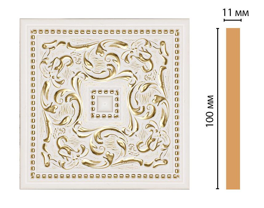Вставка цветная DECOMASTER 156-2-54 (100*100*11мм)