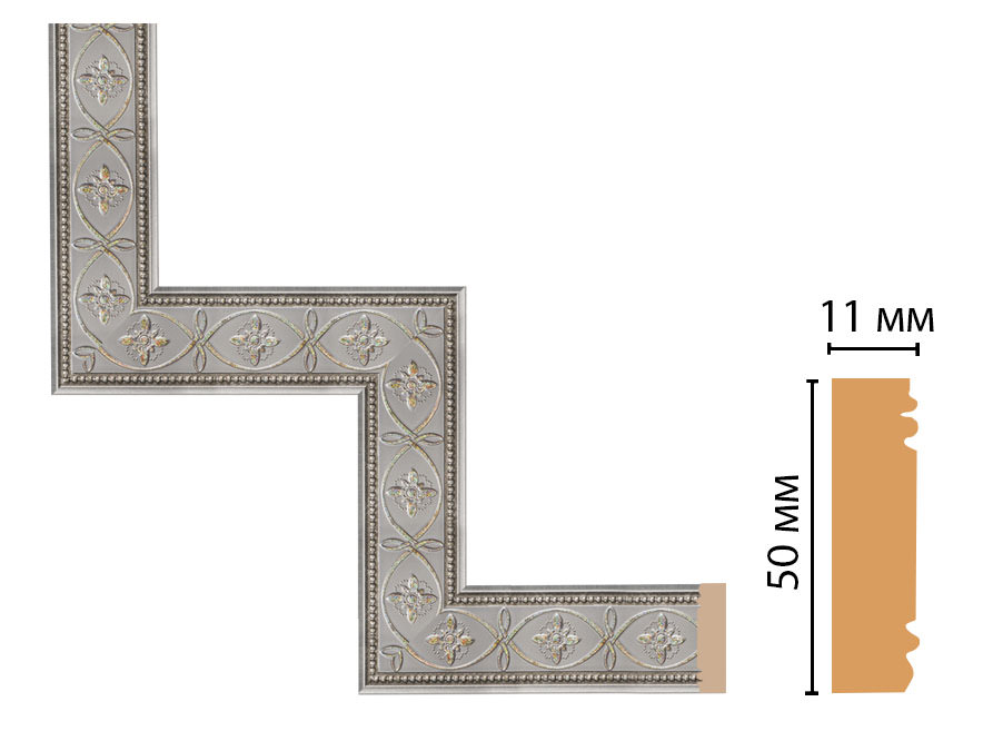 Декоративный угловой элемент DECOMASTER 156-1-55 (300*300мм)