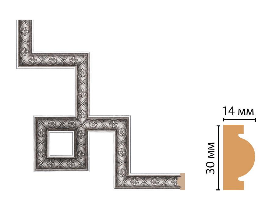 Декоративный угловой элемент DECOMASTER 157-3-55 (300*300мм)