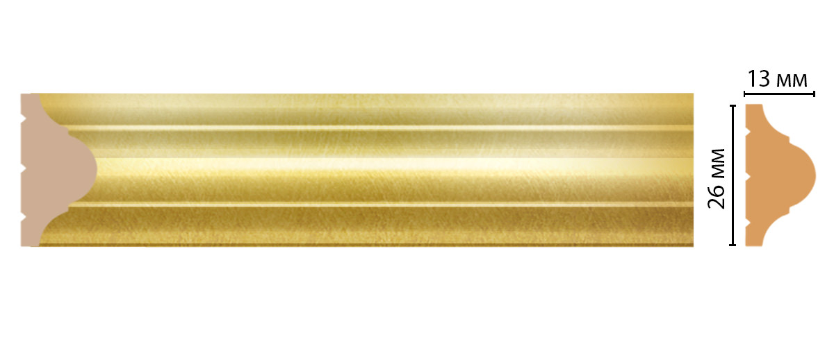 Молдинг DECOMASTER D001-374ДМ (26*13*2400 мм)