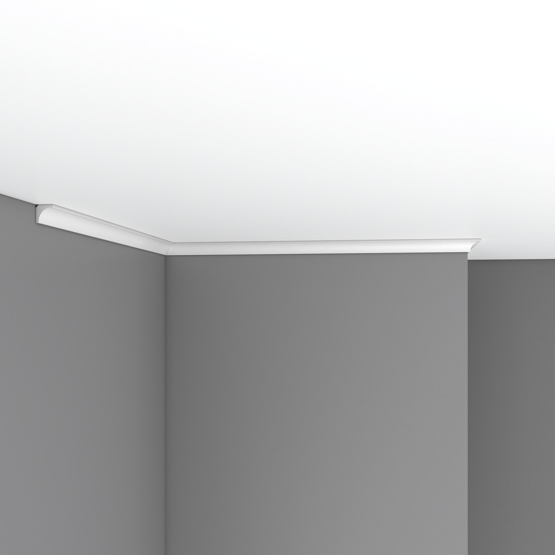 Плинтус потолочный гладкий DECOMASTER 96240 (16*16*2400мм)