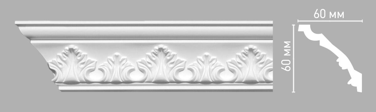 Плинтус потолочный с рисунком DECOMASTER 95015 (60х60х2400мм)