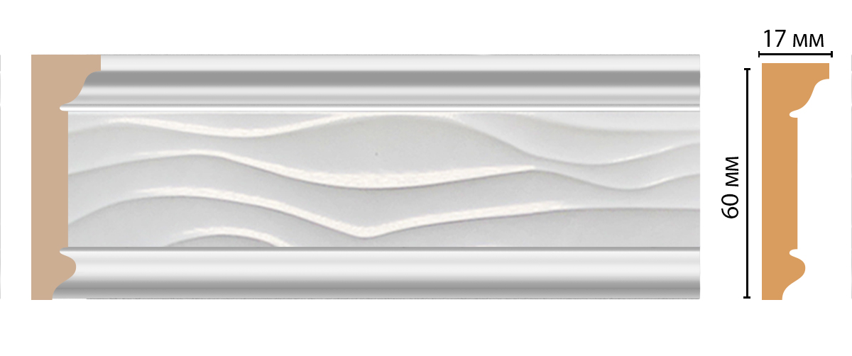 Плинтус потолочный DECOMASTER D219-114 (60*17*2400мм)