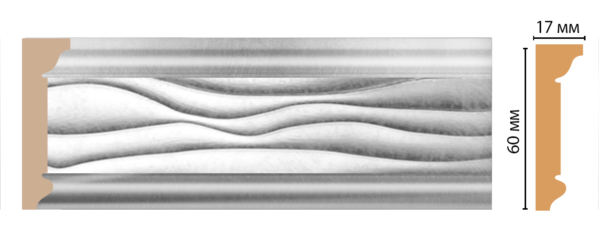 Плинтус потолочный DECOMASTER D219-375 (60*17*2400мм)