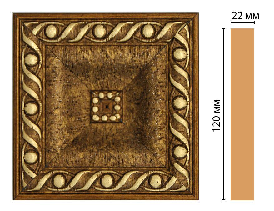 Вставка цветная DECOMASTER D208-43 (120*120*22мм)