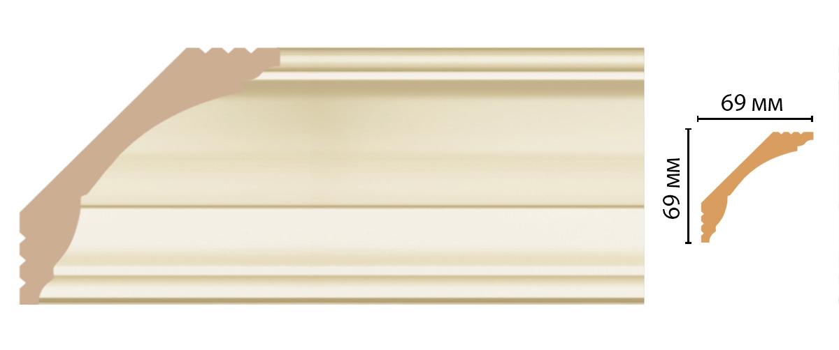 Плинтус потолочный DECOMASTER D100-61ДМ (69*69*2400 мм)