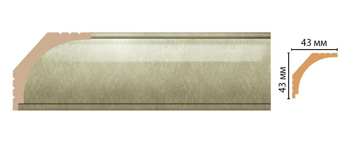 Плинтус потолочный DECOMASTER D109-373 (43*43*2400мм)