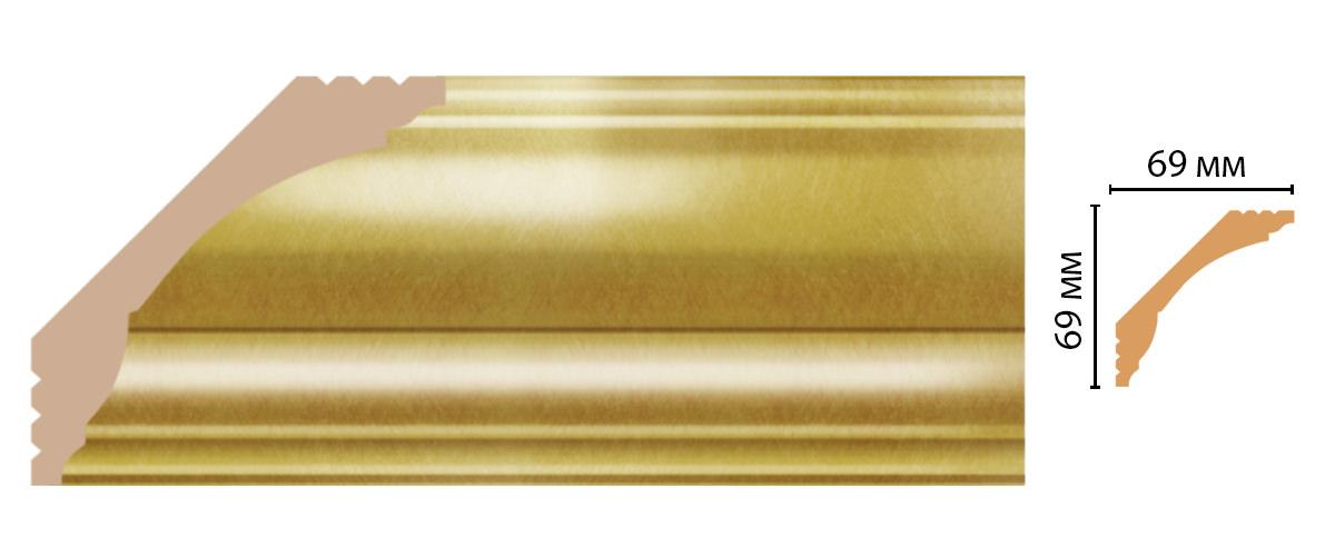 Плинтус потолочный DECOMASTER D100-374 (69*69*2400мм)