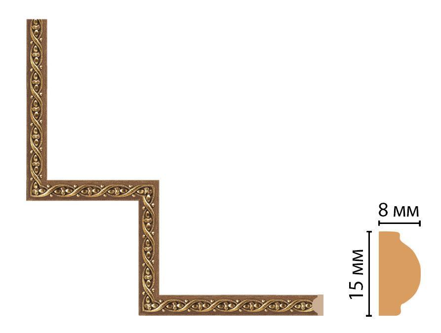 Декоративный угловой элемент DECOMASTER 130-1-3 (200*200мм)
