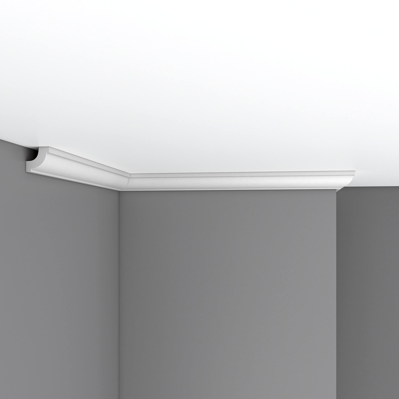 Плинтус потолочный гладкий DECOMASTER 96123F гибкий (30*30*2400мм)