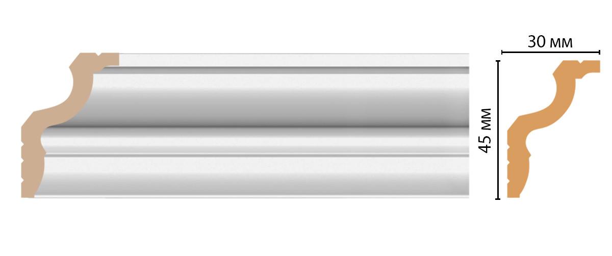 Плинтус потолочный DECOMASTER D148-114ДМ (45*30*2400мм)