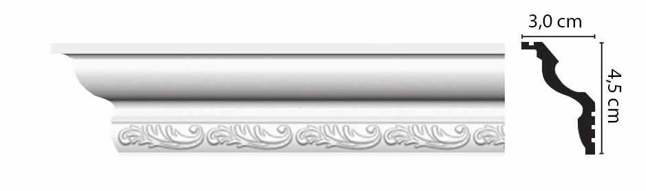 Плинтус потолочный c рисунком DECOMASTER D148BДМ (30*45*2000мм)