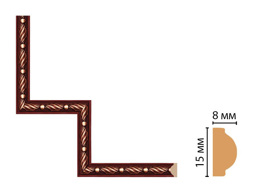 Декоративный угловой элемент DECOMASTER 130-1-52 (200*200мм)