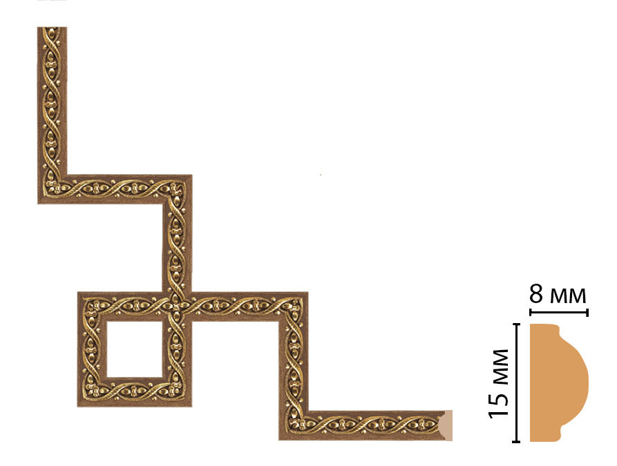 Декоративный угловой элемент DECOMASTER 130-3-3 (200*200мм)