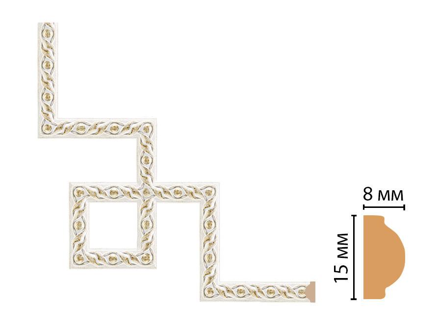 Декоративный угловой элемент DECOMASTER 130-3-40 (200*200мм)