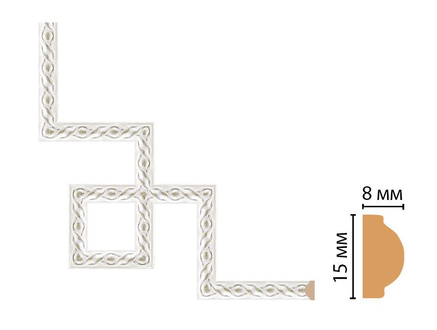 Декоративный угловой элемент DECOMASTER 130-3-42 (200*200мм)