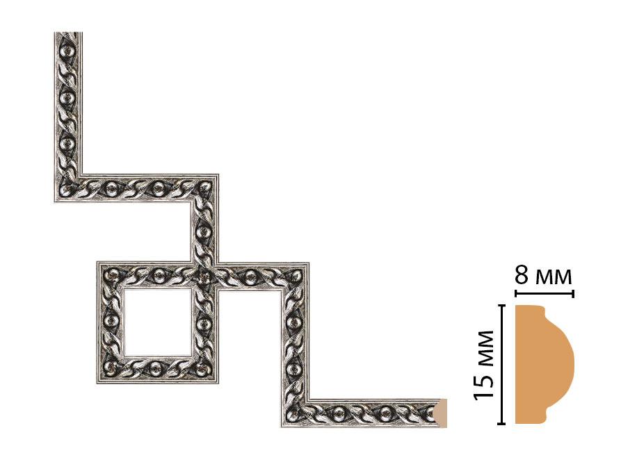 Декоративный угловой элемент DECOMASTER 130-3-44 (200*200мм)