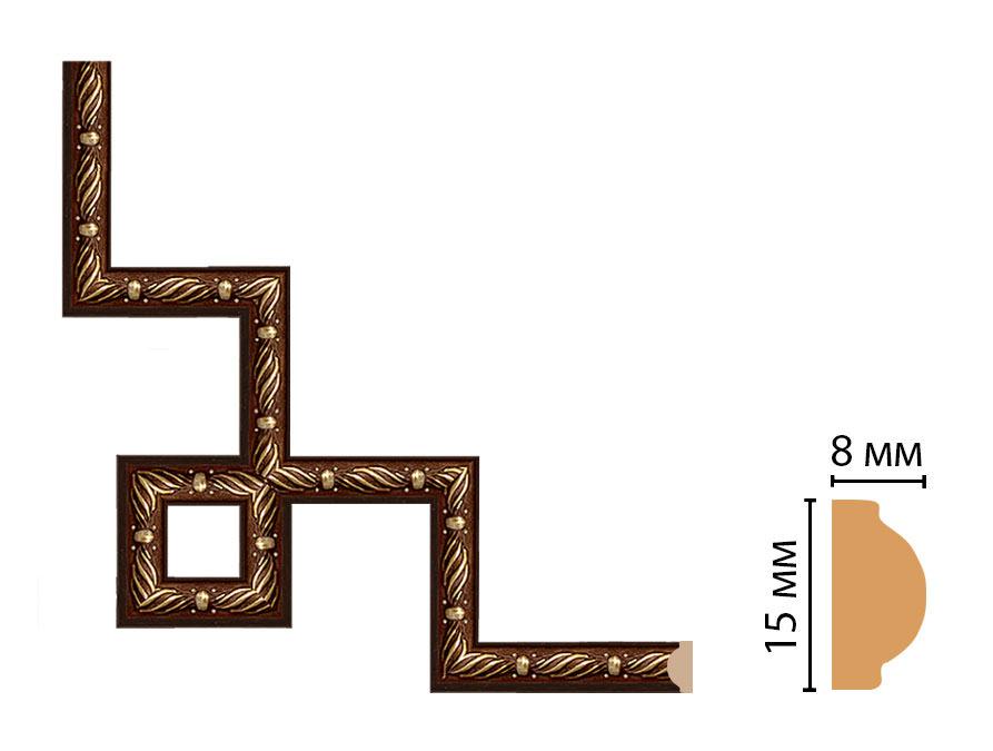 Декоративный угловой элемент DECOMASTER 130-3-51 (200*200мм)