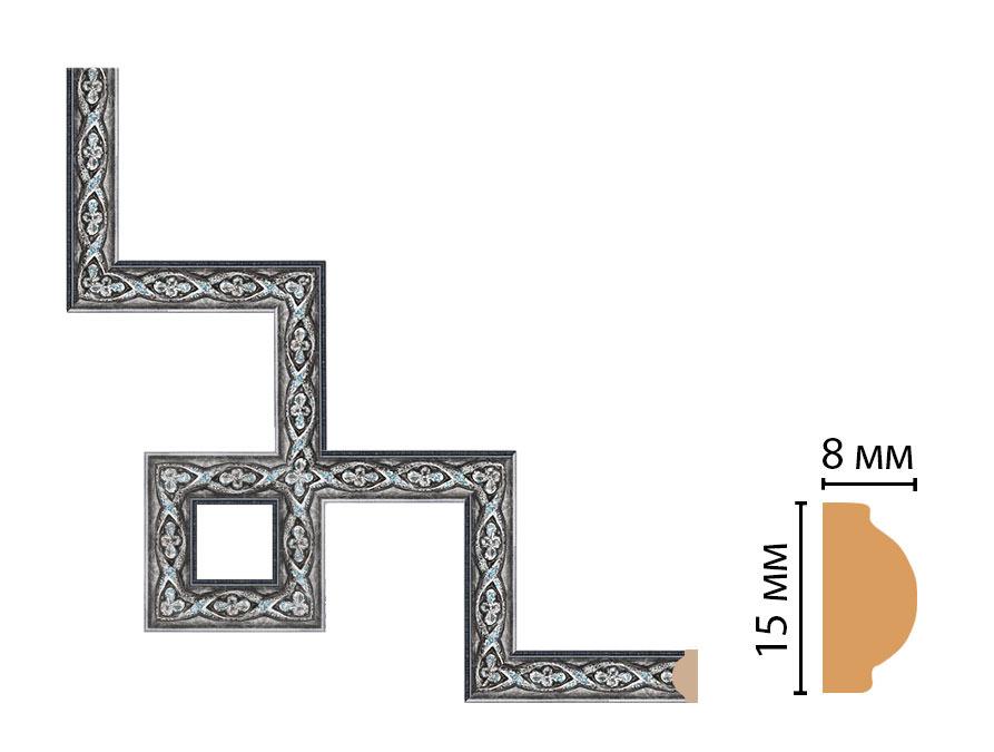 Декоративный угловой элемент DECOMASTER 130-3-55 (200*200мм)