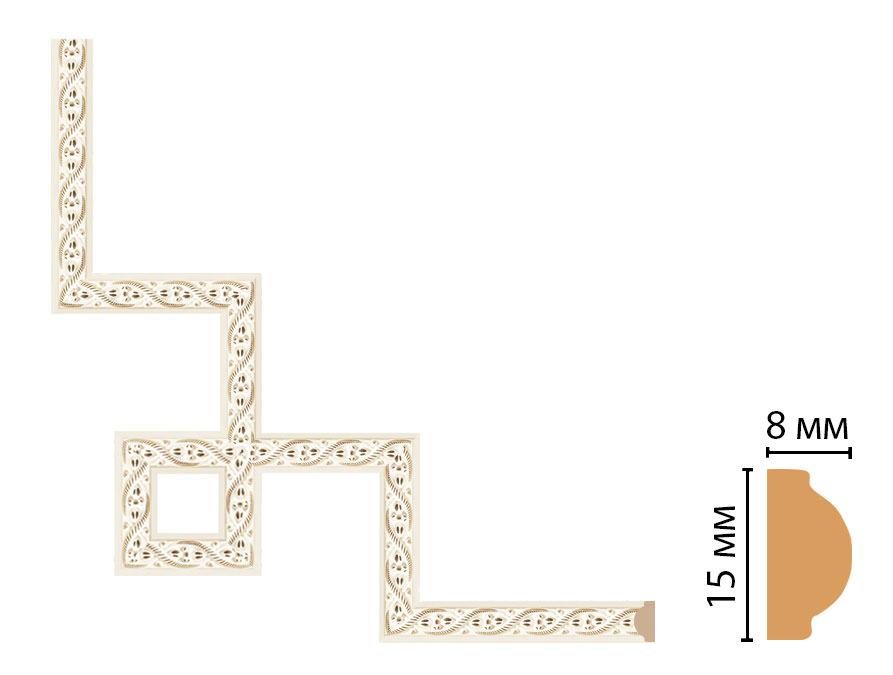 Декоративный угловой элемент DECOMASTER 130-3-6 (200*200мм)