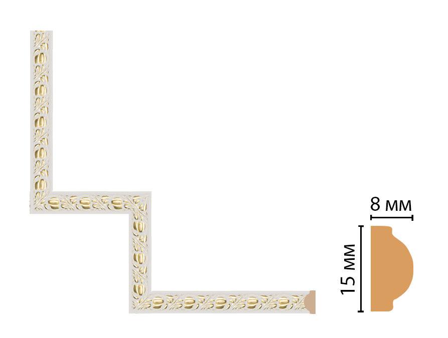 Декоративный угловой элемент DECOMASTER 130C-1-54 (200*200мм)