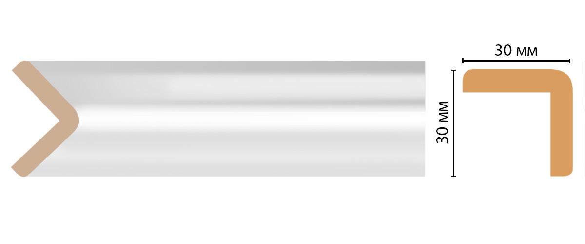 Угол DECOMASTER D134-114ДМ (30*30*2400мм)