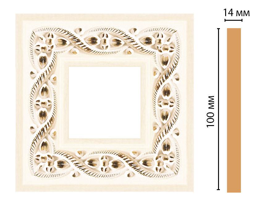 Вставка цветная DECOMASTER 157-2-6 (100*100*14мм)