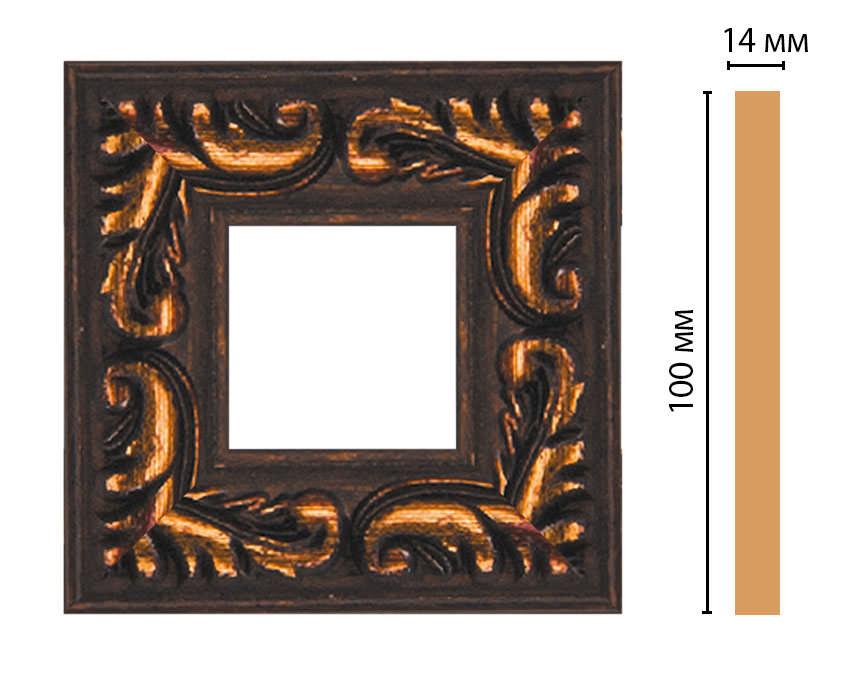 Вставка цветная DECOMASTER 157-2-966 (100*100*14мм)