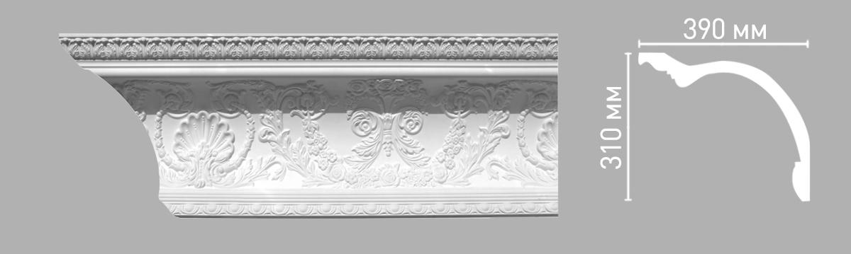 Плинтус потолочный с рисунком DECOMASTER 95146 (310х390х2400мм)
