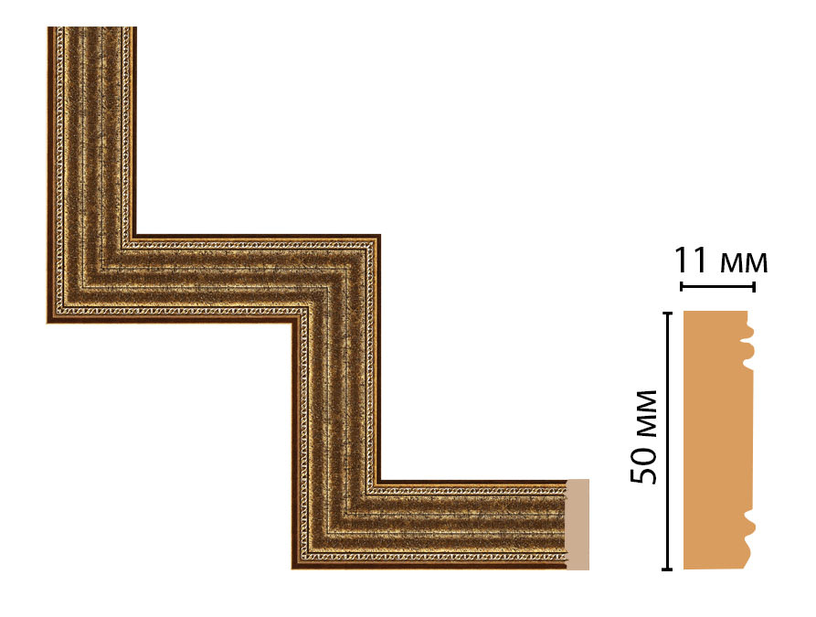 Декоративный угловой элемент DECOMASTER 156-1-43 (300*300мм)