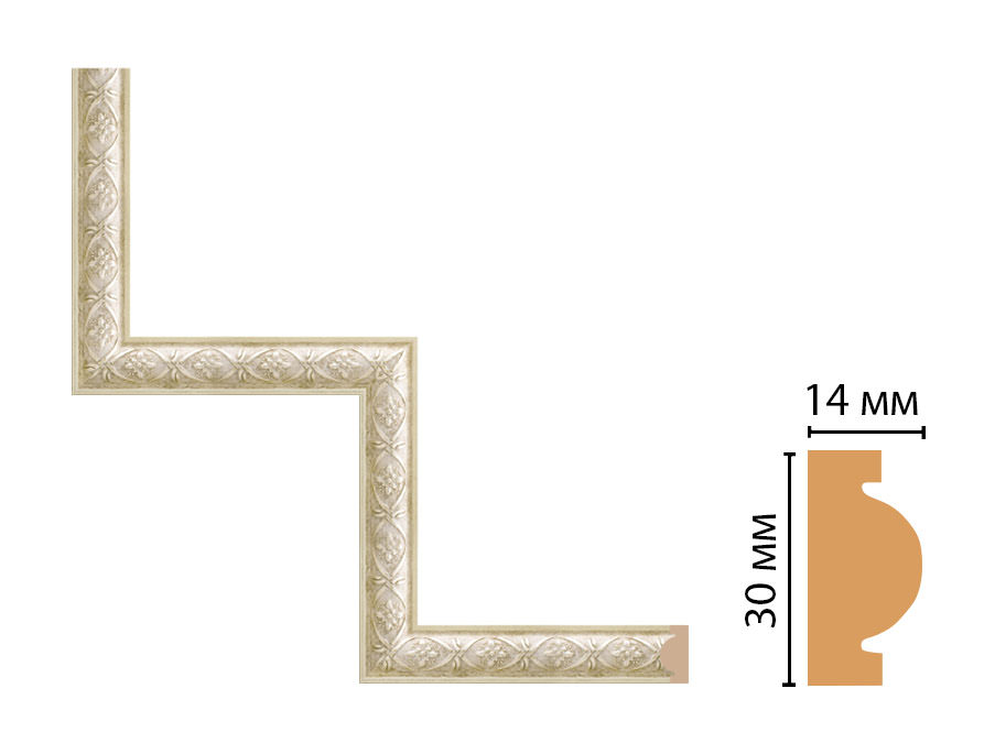 Декоративный угловой элемент DECOMASTER 157-1-937 (300*300мм)