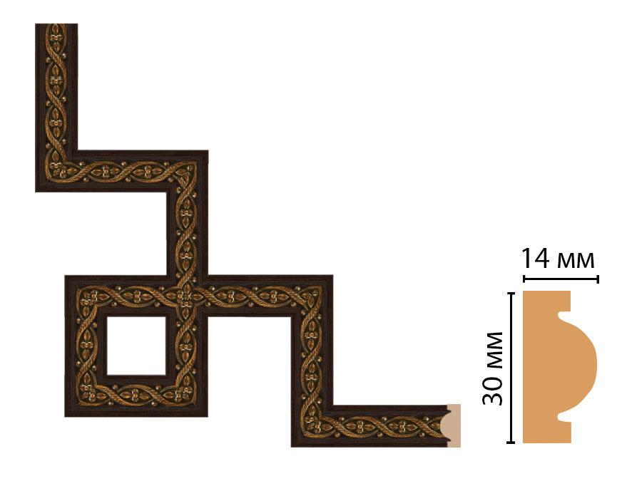 Декоративный угловой элемент DECOMASTER 157-3-1 (300*300мм)