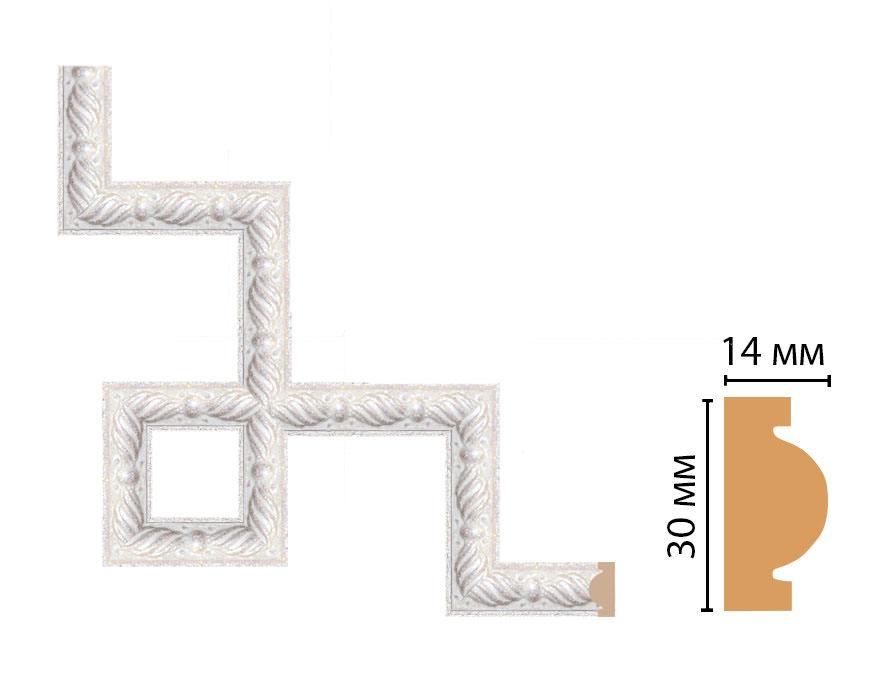 Декоративный угловой элемент DECOMASTER 157-3-19 (300*300мм)