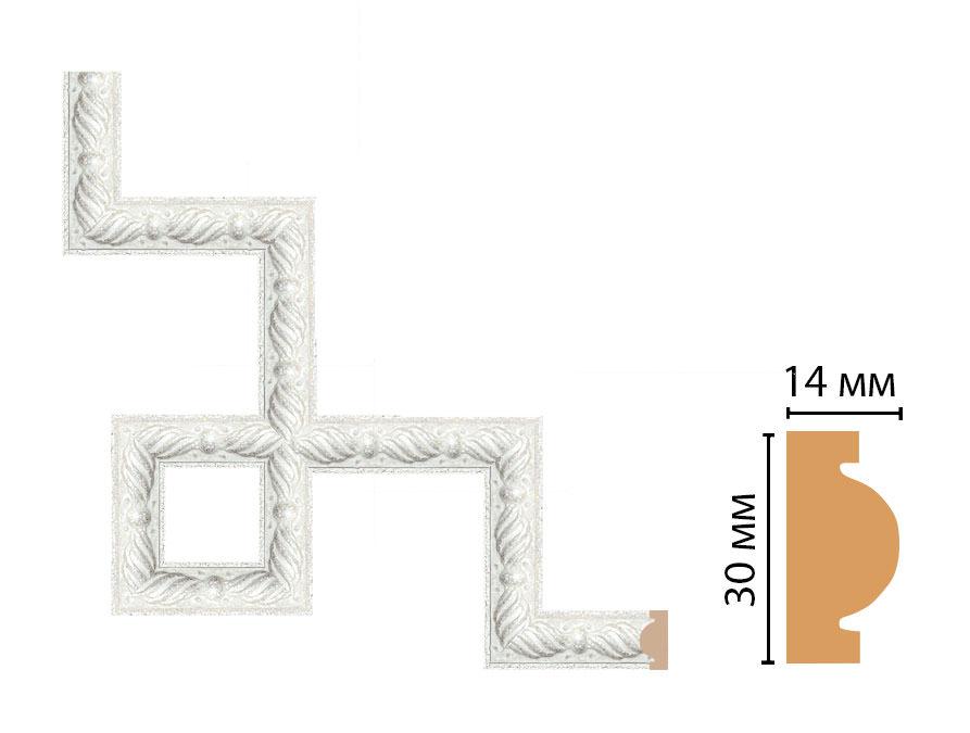 Декоративный угловой элемент DECOMASTER 157-3-20 (300*300мм)