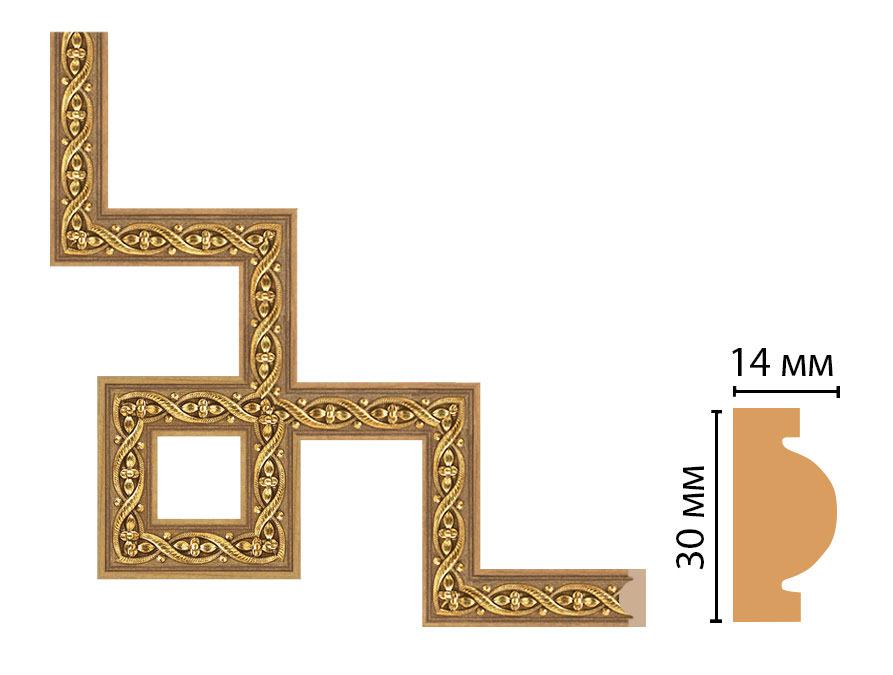 Декоративный угловой элемент DECOMASTER 157-3-4 (300*300мм)