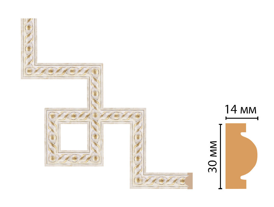 Декоративный угловой элемент DECOMASTER 157-3-41 (300*300мм)
