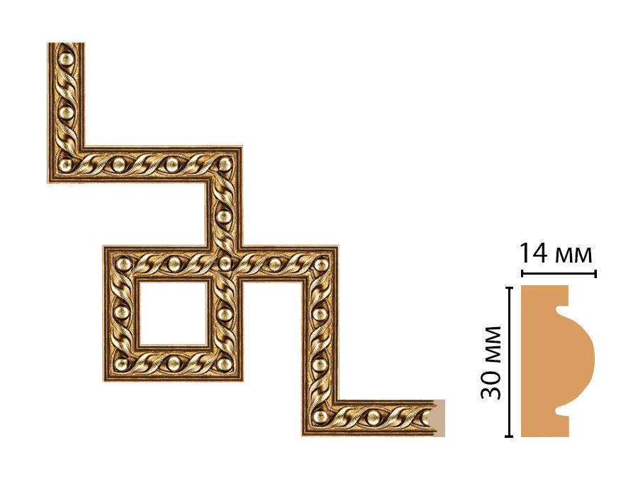 Декоративный угловой элемент DECOMASTER 157-3-43 (300*300мм)