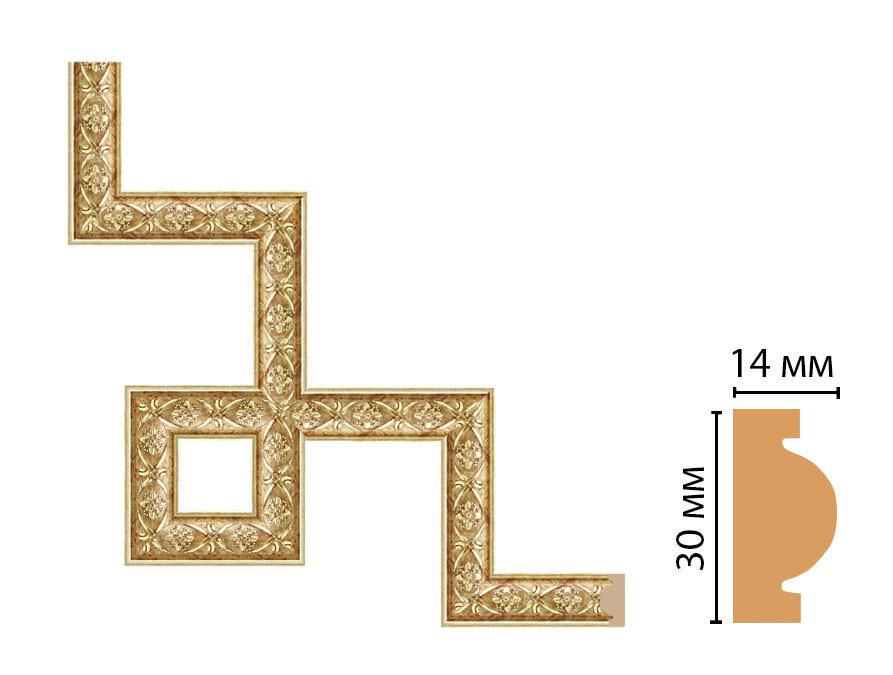 Декоративный угловой элемент DECOMASTER 157-3-933 (300*300мм)