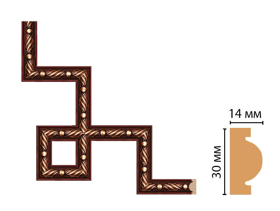 Декоративный угловой элемент DECOMASTER 157-3-52 (300*300мм)